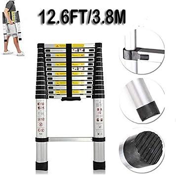 Telescopic Ladder Folding Aluminum Extendable Multi Functional Lightweight 3.8M