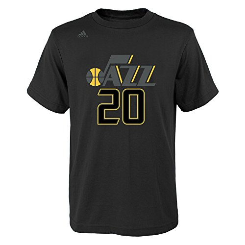 Outerstuff NBA Utah Jazz Boys Youth Hyper Name and Number Short Sleeve Tee, Large (14-16), Black ()