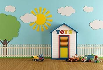 GoEoo Baby Background Building for Studio Children Cartoon Photography Backdrops Vinyl 5x7FT 150cm X 210cm GoEoo-JP079