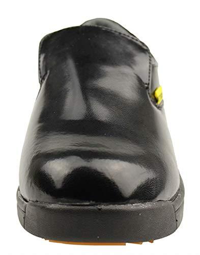 DDTX Men's Slip and Oil Resistant Slip-on Work Shoes Black (9.5) by DDTX (Image #6)