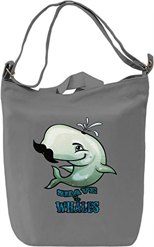 Shave the Whales Borsa Giornaliera Canvas Canvas Day Bag| 100% Premium Cotton Canvas| DTG Printing|