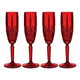 Marquis by Waterford Brookside Champagne Flute, Red, Set of 4 Review