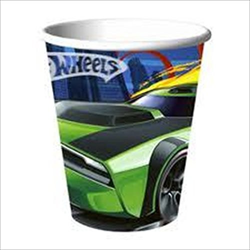 Hot Wheels 'High Speed' Paper Cups (8ct) (Hot Wheels Paper)