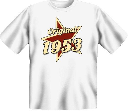 T-Shirt zum 62. Geburtstag für Jahrgang 1953 - Ein lustiges Geburtstagsgeschenk für Leute mit Humor ! - Farbe: weiss