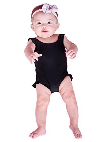 Ruffle One Infant Swimsuit Piece (Baby Girls Swimsuit One Piece Swimwear Bikini Ruffle Swimsuits Bathing Costume (Black, 2-3 Years))