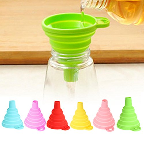 JD Million shop Protable Mini Silicone Gel Foldable Collapsible Style Funnel Hopper Kitchen Tool Practical Home Water Filler Tool
