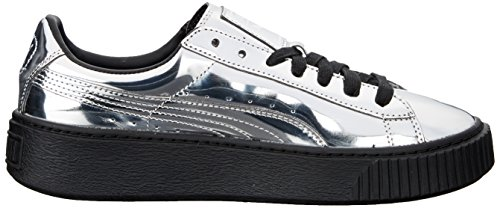 Puma Silver Donne silver B Cestino Uk 5 3 Piattaforma Metallica Sneaker puma Moda Delle Marrone SYw4q4