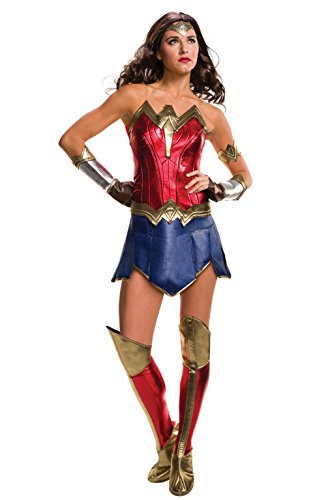 Secret Wishes Women's Batman V Superman: Dawn of Justice Deluxe Wonder Woman (Superman Boot Tops)