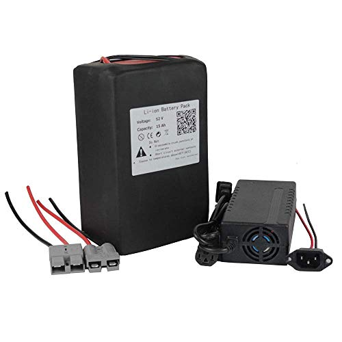 52V 15AH Ebike Lithium ion Battery Pack for 500W 750W Electric Bike Scooter 58.8V 3A Charger + 50A BMS by BtrPower (Image #5)