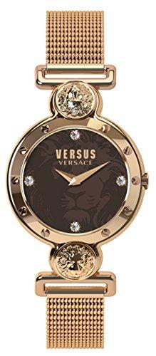 Versus by Versace Women's 'Sunnyridge' Quartz Stainless Steel Casual Watch, Color:Gold-Toned (Model: SOL130016)