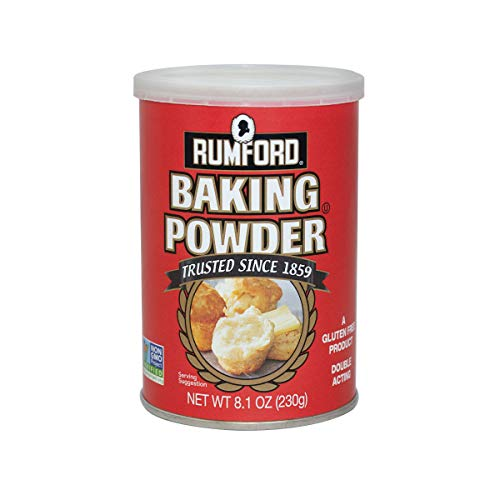 Free Baking Soda Gluten - Rumford Baking Powder 8.1oz, NON-GMO, Gluten Free, Vegan, Vegetarian, Double Acting Baking Powder in a Resealable Can with Easy Measure Lid, Kosher, Halal