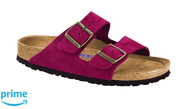 Birkenstock Women's Arizona Soft Footbed Sandal Antique Port Suede Size 42 N EU