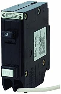 Eaton Corporation GFCB115CS Single Pole Ground Fault Interrupter Circuit Breaker, 120V, 15-Amp