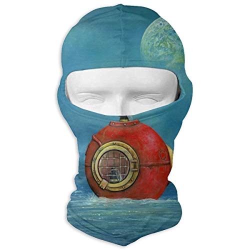 Leopoldson Nautical Moon Ocean Bumblebee Wildlife Balaclava UV Protection Windproof Ski Face Masks Full Face Mask Breathable White -