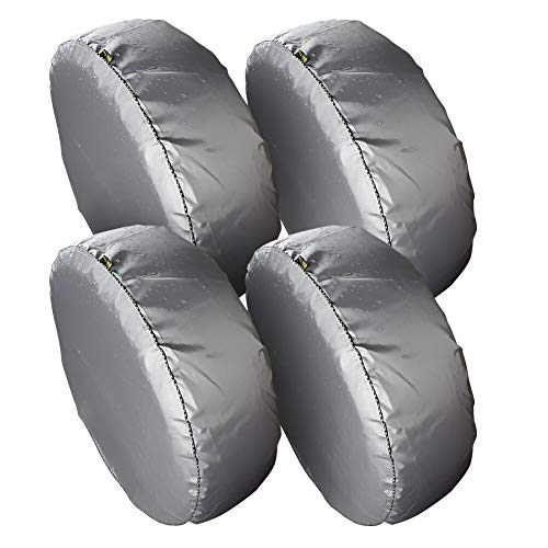 (Set of 4 Tire Covers,Tire Covers for RV Auto Truck Car Camper Trailer Waterproof Sun-Proof Weatherproof Tire Protectors(Fits 27
