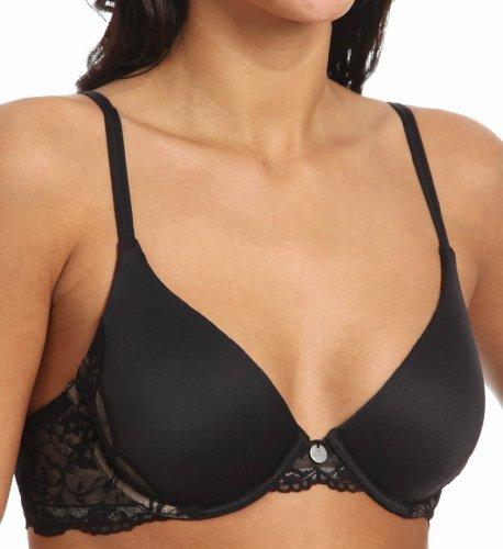 DKNY Intimates Women's Signature Skin Fit Flex Demi Bra 453231 Black Bra 32D Dkny Charm