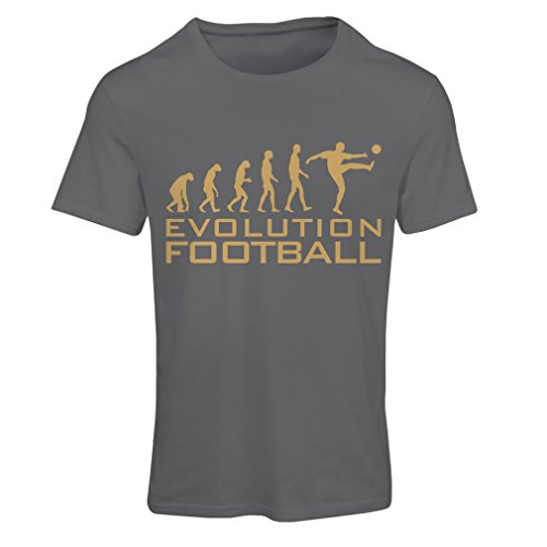 fan products of N4466F T Shirts For Women The Evolution Football (X-Large Graphite Gold)