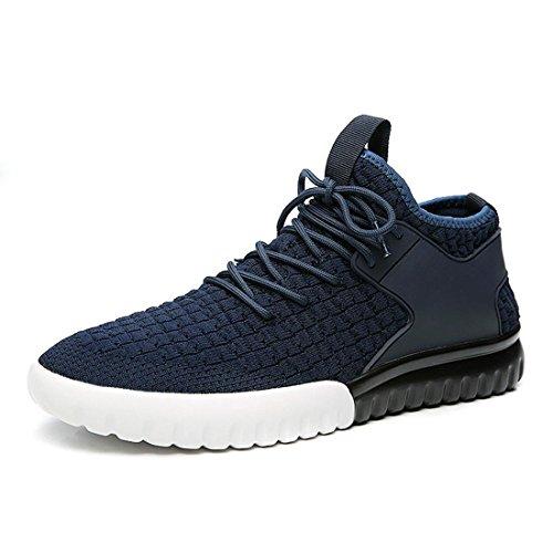 Hommes Nouvelles Chaussures De Course Légères Respirant Mode Chaussures De Sport Baskets Baller Flats Non-slip Casual Chaussures Euro Taille 38-44, Bleu, 38
