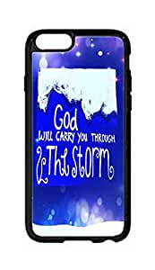 """RainbowSky iPhone 6 Plus (5.5"""" Inch) Case - God Will Carry You Hard Plastic Back Protection Phone Case Cover -1552"""