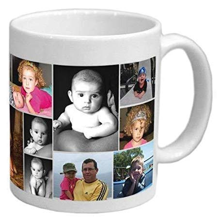Manglam Mart Personalized Coffee Mug- Print Your Collage Photo On Mug With Text | Ceramic 325 Ml Coffee Mug