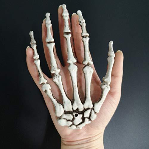 8QzJs1Tg 2Pcs Halloween Skeleton Human Hand Bone Party Haunted House Decoration Props