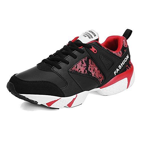 Up Men's Black Gioca Heel Cricket da Red Athletic Cool Shoes Flat Scarpe Lace Tide a pp0wqaSF