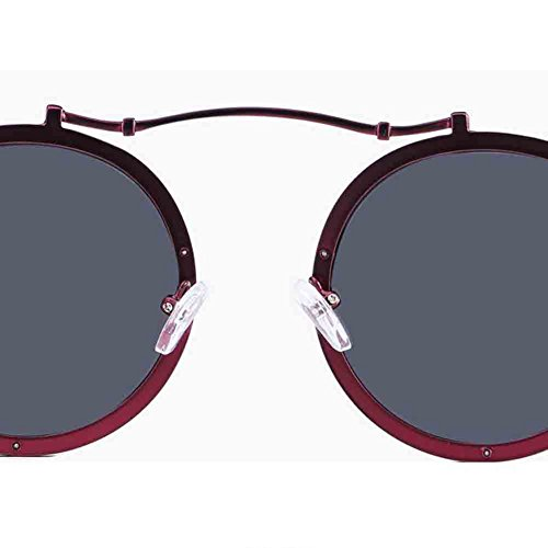 soleil Mode lunettes conduite HONEY Texture red Red lunettes Sunny Black gamme Couleur polarisé de black Couple unisexe haut de de cadre rond personnalisé dXF5d7ntx