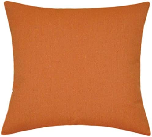 Sunbrella Rust Indoor/Outdoor Solid Patio Pillow 20×20