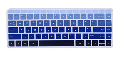 Utra Thin HP Keyboard Cover for HP Stream Laptop 14-ax010nr ax020nr ax020wm ax030wm ax040nr ax050nr ax067nr, HP 14-an010nr an013nr an080nr, HP 14-ab010 ab166us 14-ac159nr 14-al062nr, Gradual Blue