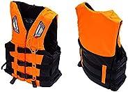 amuzer Life Jacket Vest, Float Life Jacket Swimming Vest for Adult, Oxford Cloth Buoyancy Aid Jacket for Fishi