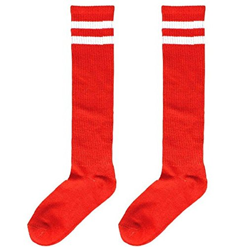 Amscan Stripe Knee Socks, Party Accessory, Red