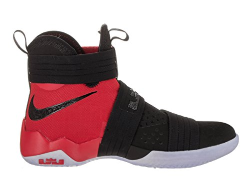 Nike Men's Lebron Soldier 10 SFG Black/Black University Red Basketball Shoe 12 Men US by NIKE (Image #5)