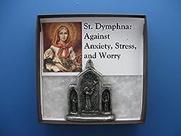 St. Dymphna: Against Anxiety, Stress, Worry; Handmade Triptych