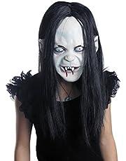 قناع وجه مخيف للهالوين بشعر طويل وتصميم مرعب من ال يو اوه اي ام، مستلزمات الحفلات
