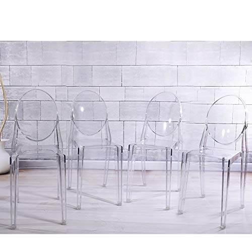 Living Room Bedroom Combo Ideas, Bochen Panana 4pcs New Ghost Poly Carbonate Transparent Clear Philippe Starck Style Dining Chair Buy Online In Bosnia And Herzegovina At Desertcart