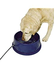 K&H Pet Products 2010 Thermal-Bowl Heated Cat & Dog Bowl 96oz, Blue 25W