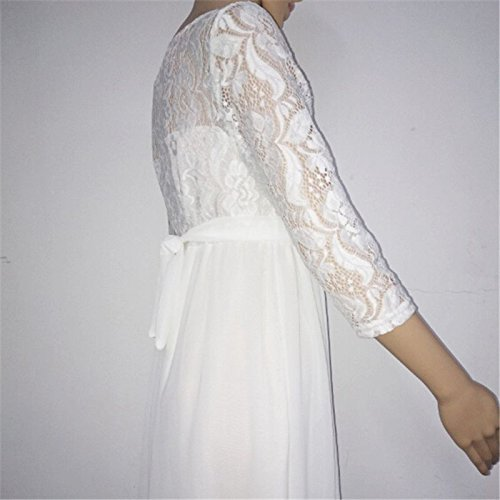 SODIAL Women Maternity Clothes Dresses Lace Evening Dress Pregnancy Gown Dress Pregnant Vestidos Ropa Embarazada(White, XL) at Amazon Womens Clothing store ...