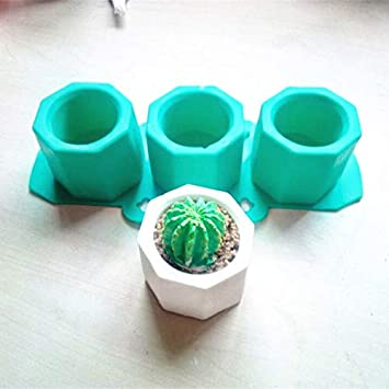 Cactus Flower Pot Silicone Mold Ceramic Clay Craft Casting Concrete Cup Mold