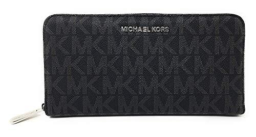 (Michael Kors Jet Set Travel Zip Around Travel Wallet (Black))