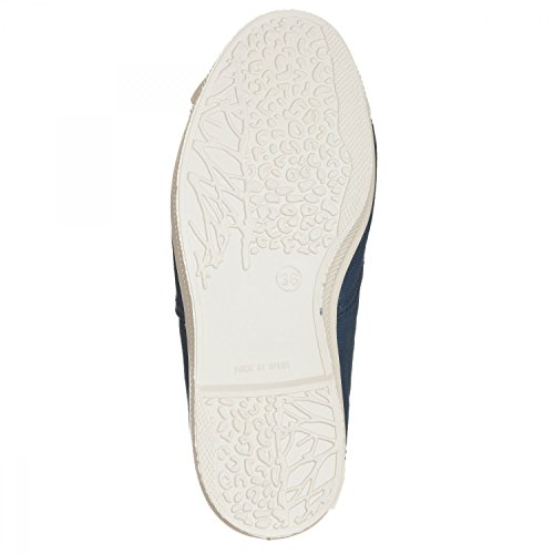NATURAL WORLD - Natural world ingles elastico cordones bleue, chaussure en toile femme - 2002006172796-G