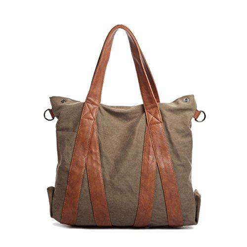 Frauen Vintage-Leinwand Messenger Ipad Schulter Handtasche Side Die Universelle Einsatz Tasche ,C-37cm*14cm*42cm