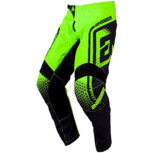 (Answer Racing A19 Syncron Drift Men's Off-Road Motorcycle Pants - Hyper Acid/Black / 36)