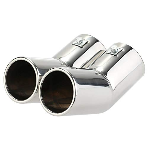 - Raitron Dual Pipes Stainless Steel Exhaust Tail Pipes Muffler Tips for VW Golf 4 Bora Jetta - Quarkscm