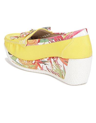Yepme - Sandalias de vestir de Material Sintético para mujer amarillo amarillo