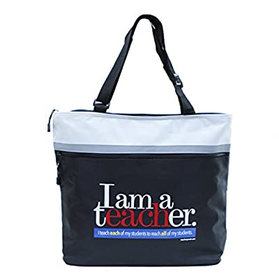 Teacher Peach Jumbo Tote, Durable School Teacher Bag with Pockets, Perfect Gift for Teachers