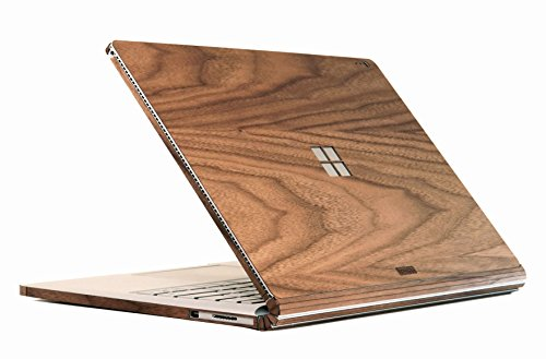 TOAST- Real Wood Walnut Cover for Surface Book with Performance Base and Windows logo cutout. by Toast
