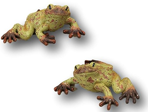 Mission Gallery Two Sweet Garden Patio Rainforest Style Frogs ~ Made of Resin (Set of 2 Small 6.5