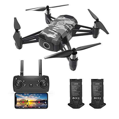 HR Drone For Kids With 1080p HD FPV Camera,Mini Quadcopter For Beginners With Altitude Hold,One Key Start/Land,Draw Path…