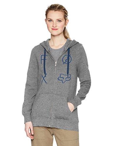 Fox Junior's Staged Zip Hoody Sweatshirt, Heather Graphite, - Zip Hoodie Juniors