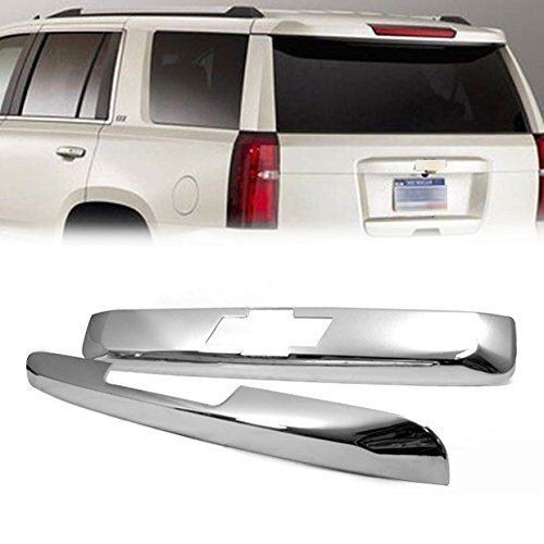 Ships From USA 2PCs Brand New Chrome Tailgate Hatch Cover Trim Trunk Bezel For CHEVY TAHOE SUBURBAN 2007 2008 2009 2010 2011